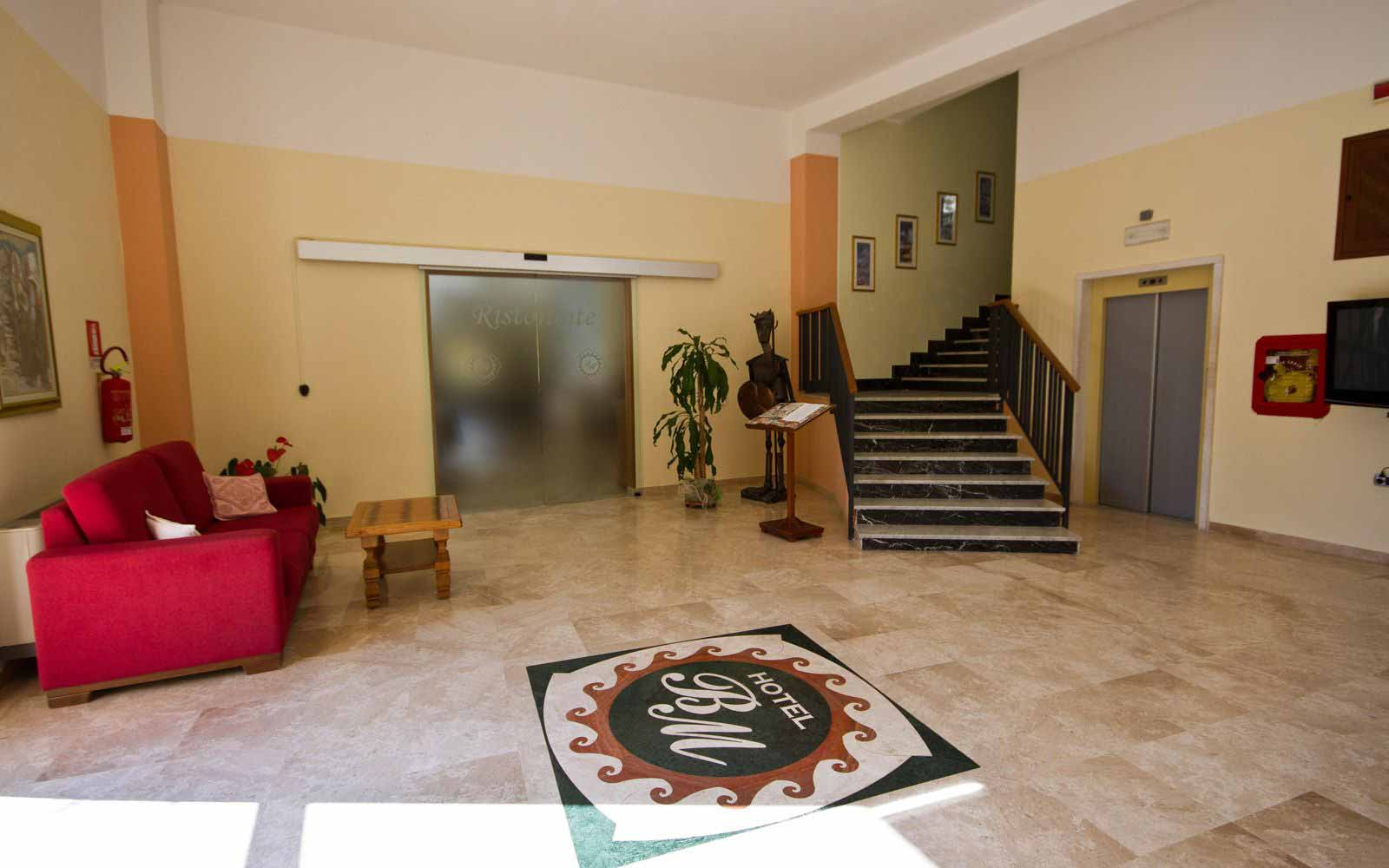 Entrance hall at Hotel Brancamaria