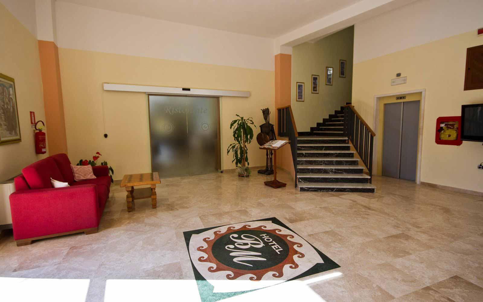 Entrance hall at Hotel Brancamaria
