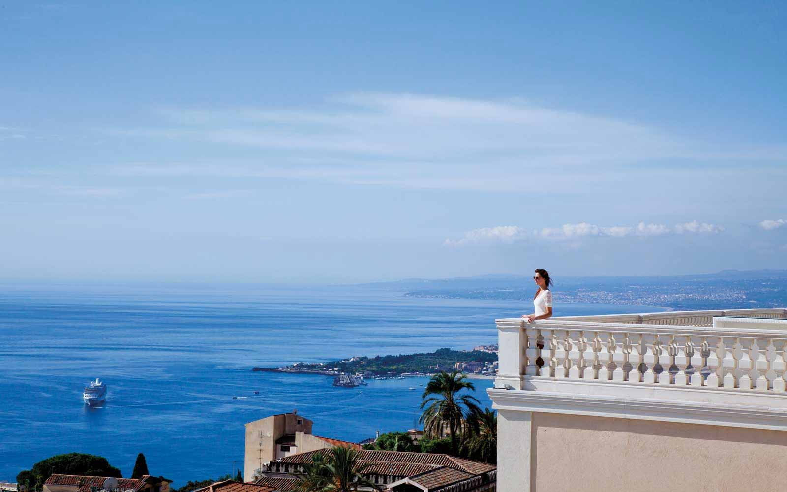Roof terrace at NH Collection Taormina