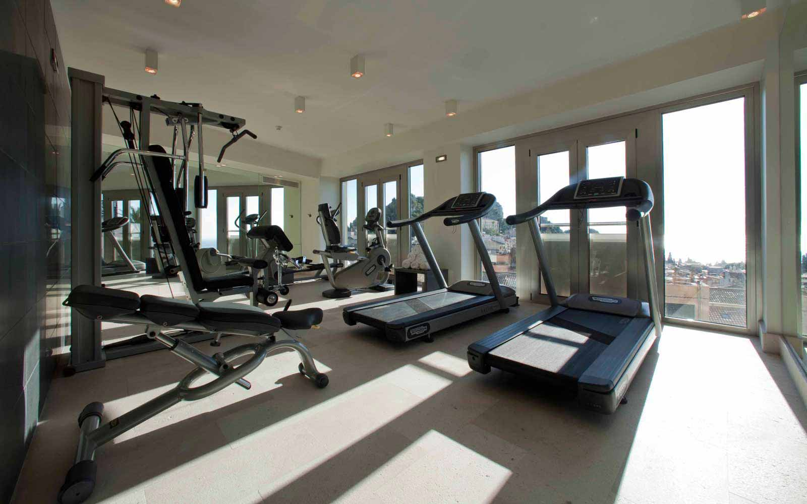 Fitness room at NH Collection Taormina