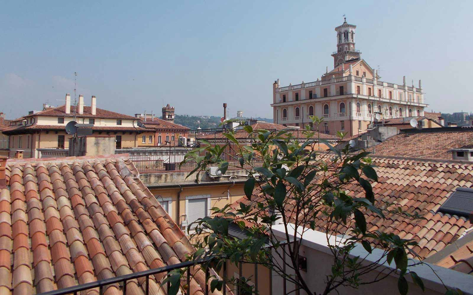 Across the roofs of Verona from Hotel Accademia