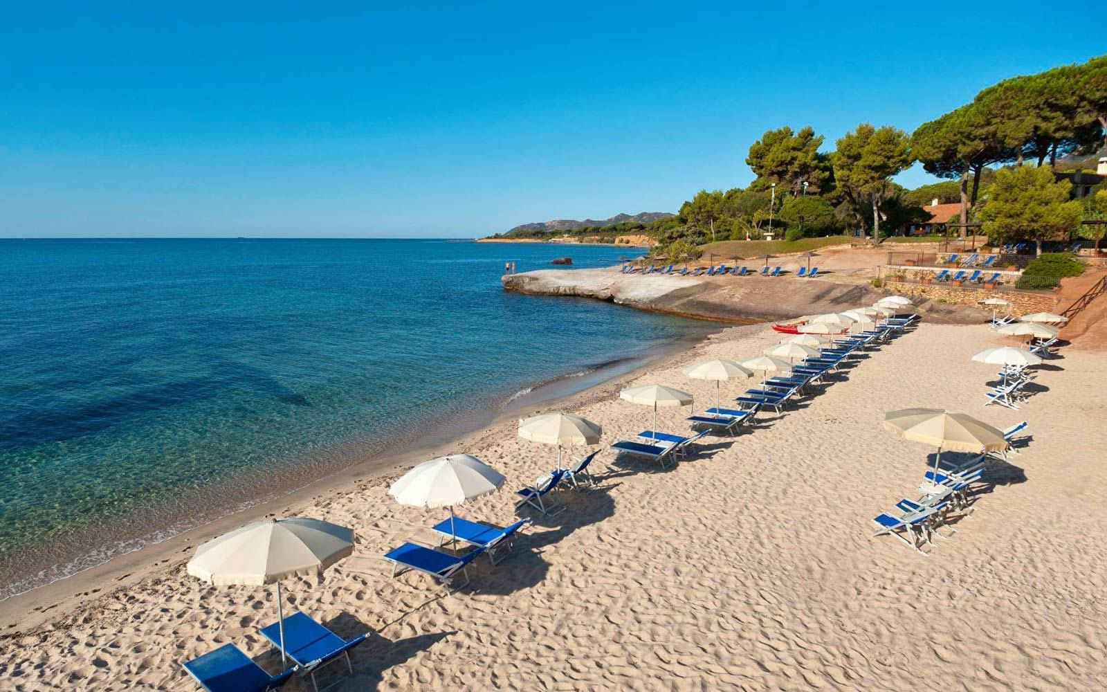 Beach at Is Morus Relais