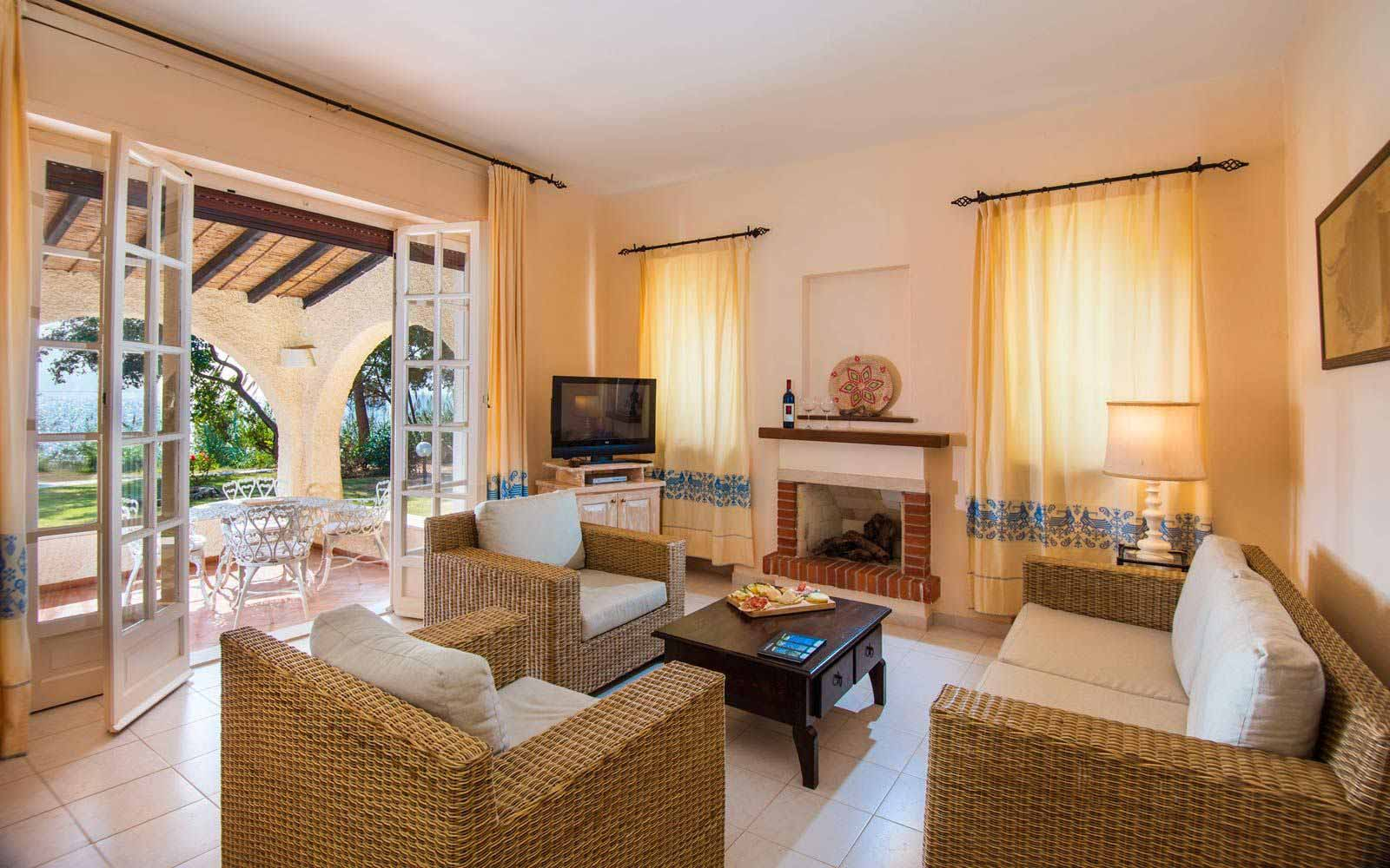 Lounge inside Villa Plutone at Is Morus Relais