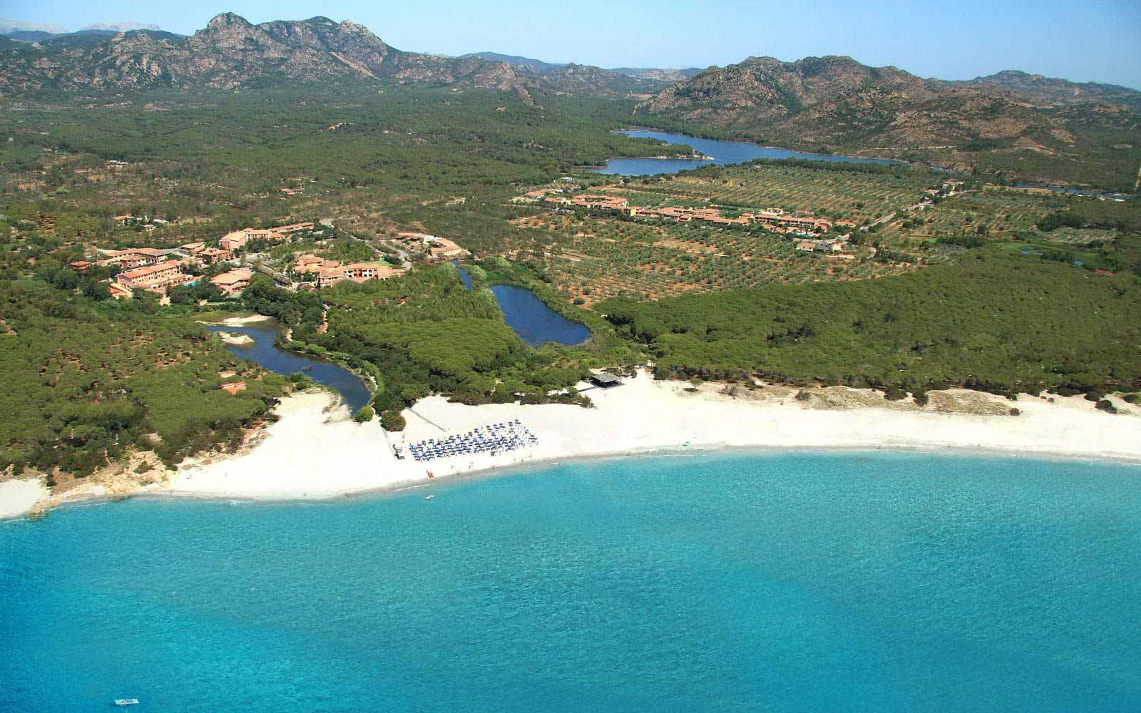 Panoramic view over Cala Ginepro Hotel Resort