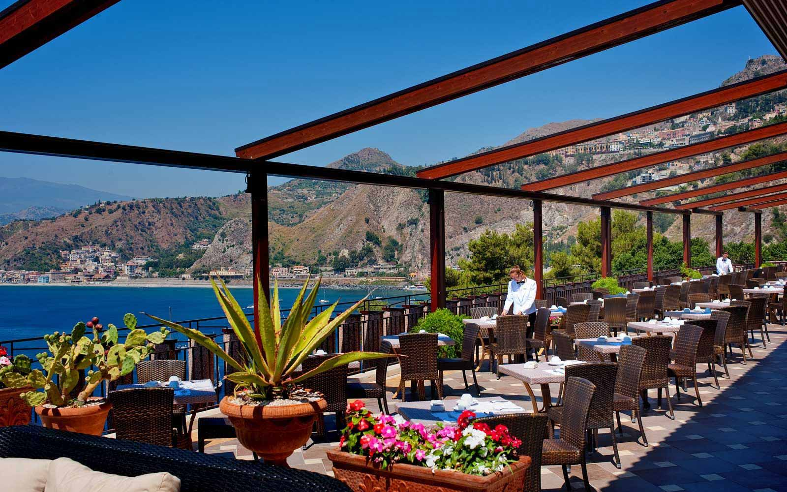 Terrace at Atahotel Capotaormina