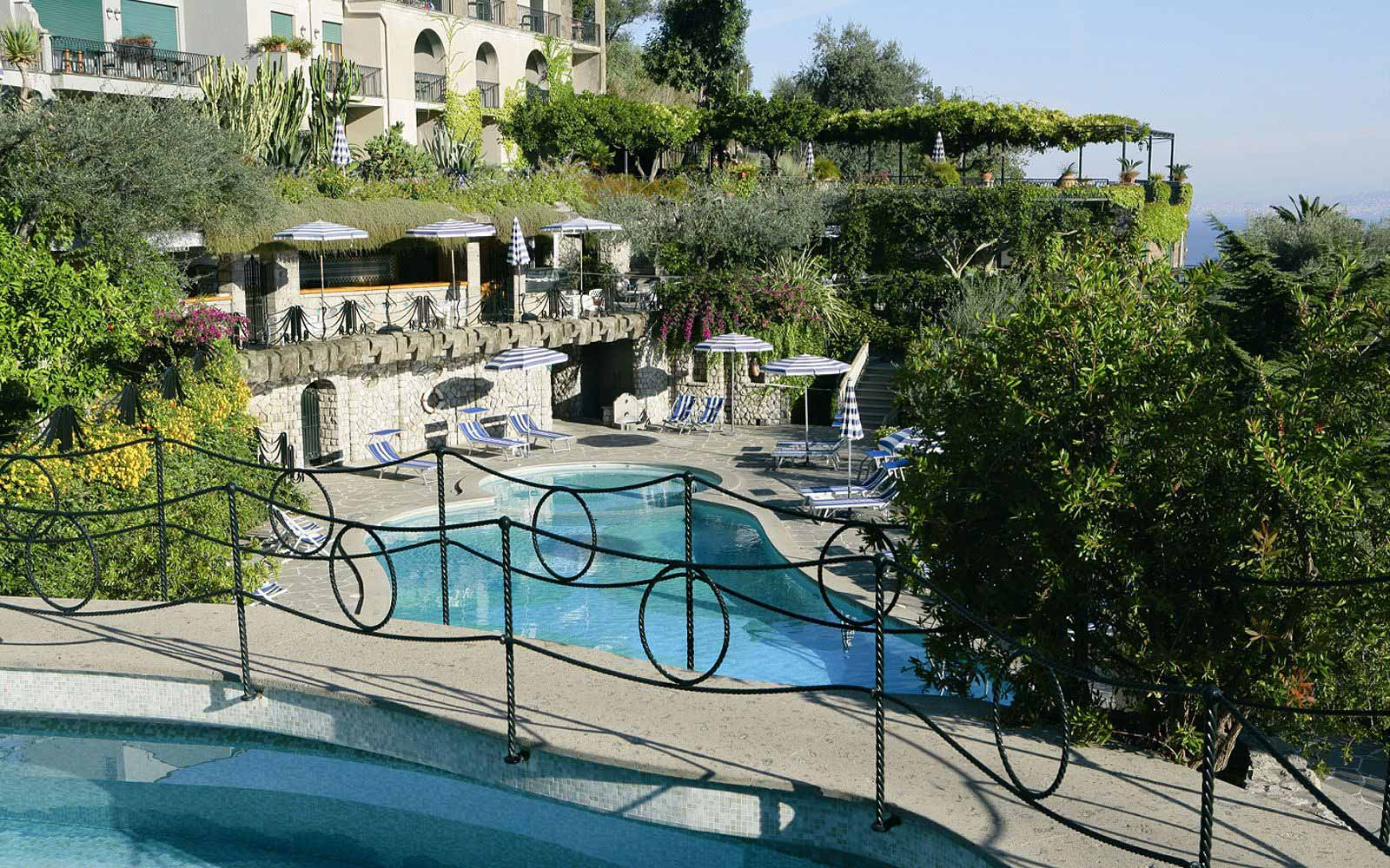 Pool Bar at the Grand Hotel Capodimonte