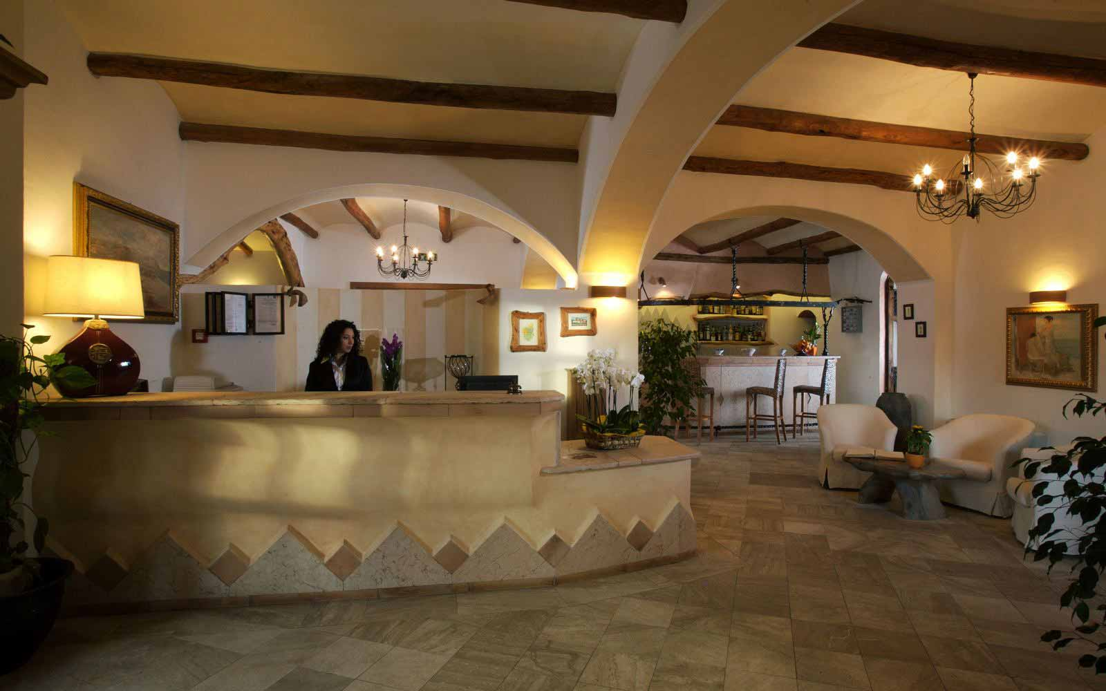 Reception hall at Hotel Arathena