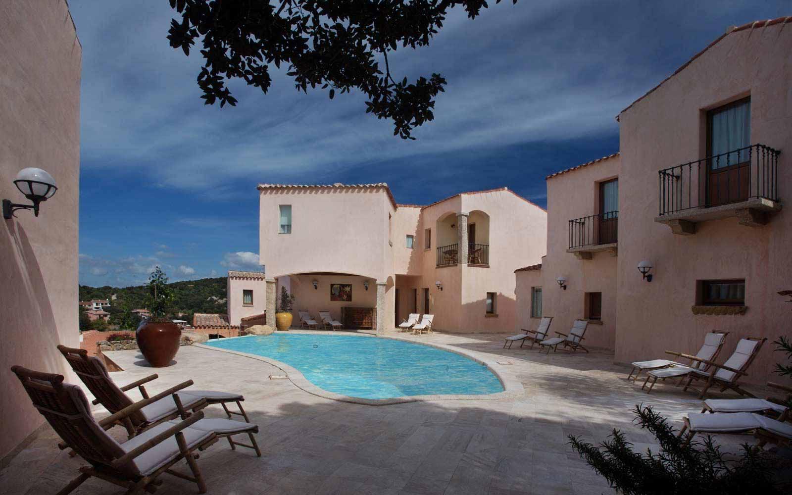 Swimming pool at Hotel Arathena