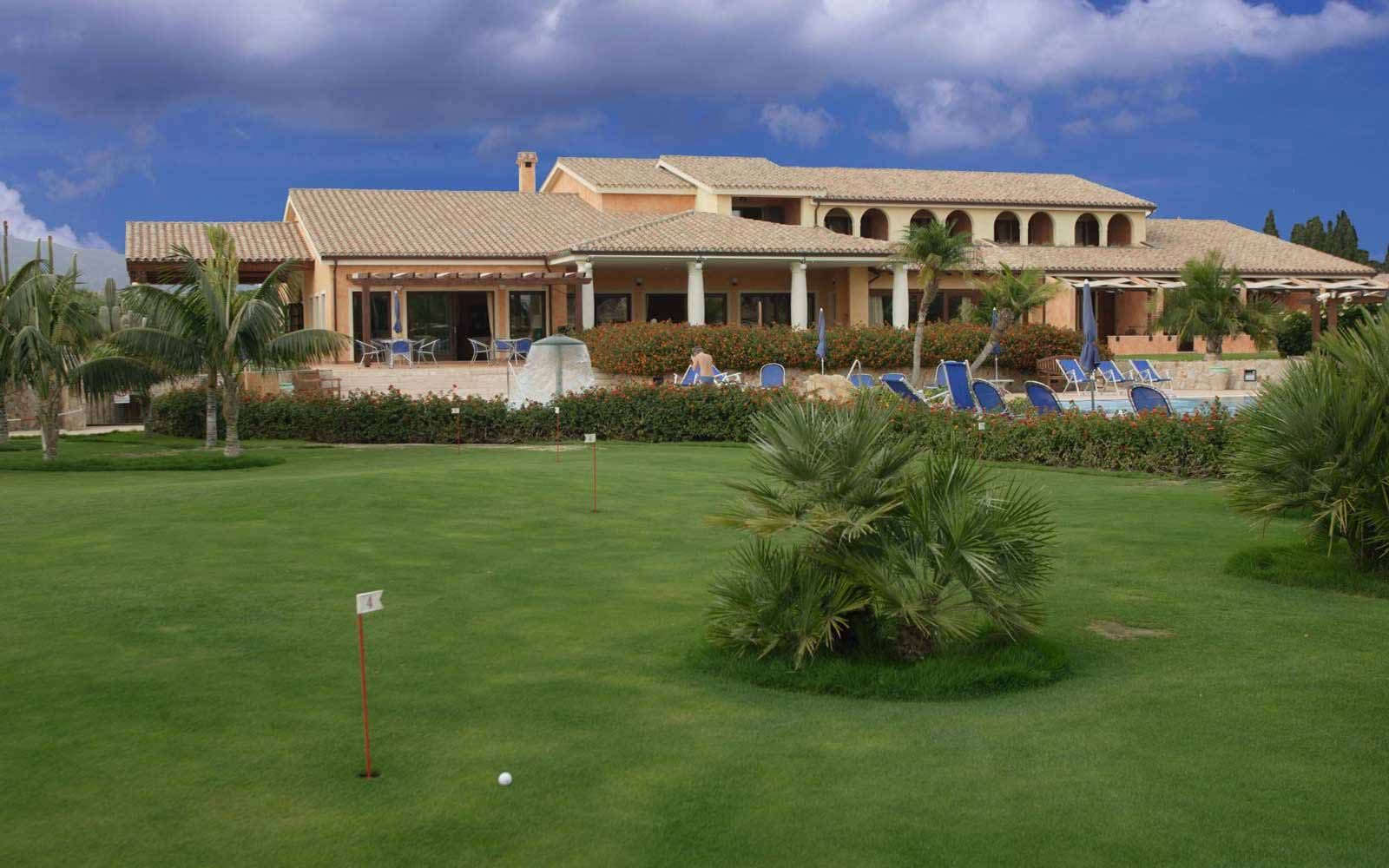 View of Lantana Resort from the putting green