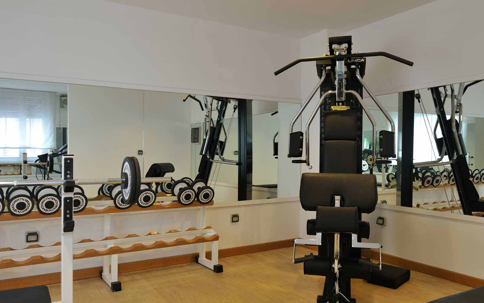 Fitness room at Hotel Principe Di Villafranca