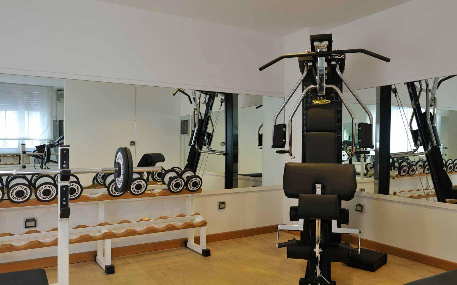 Fitness room at Hotel Principe Di Villafranca