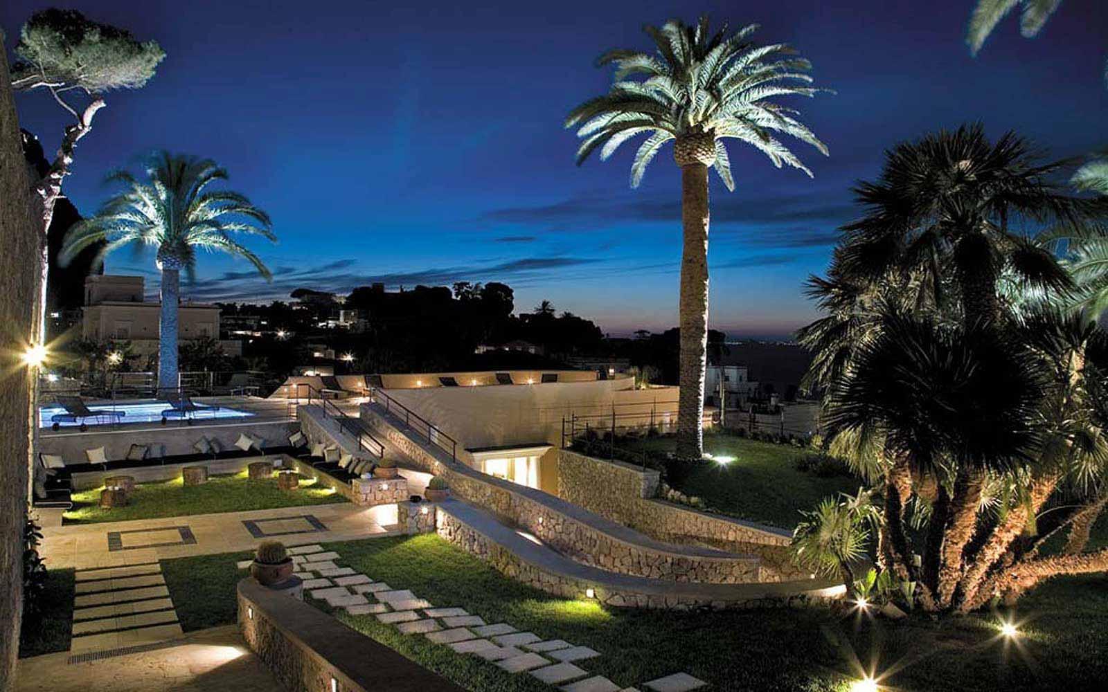 Villa Marini Capri Hotel & Spa at night