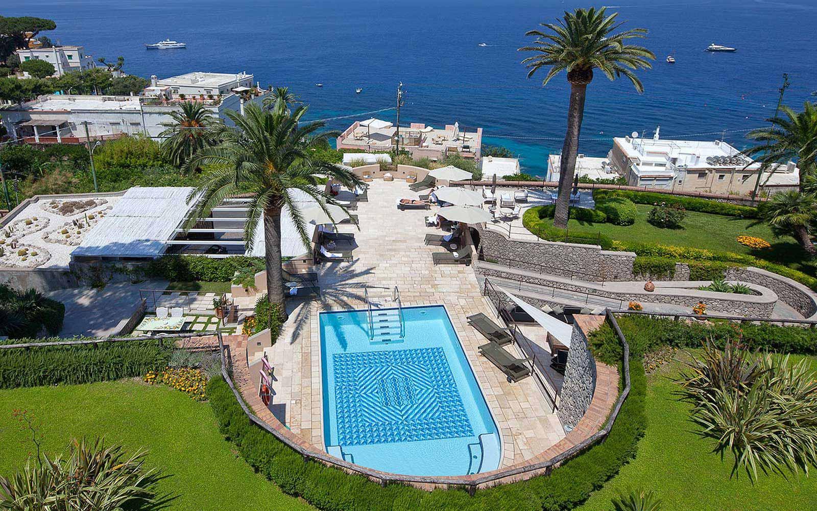 Panoramic view of the Villa Marini Capri Hotel & Spa