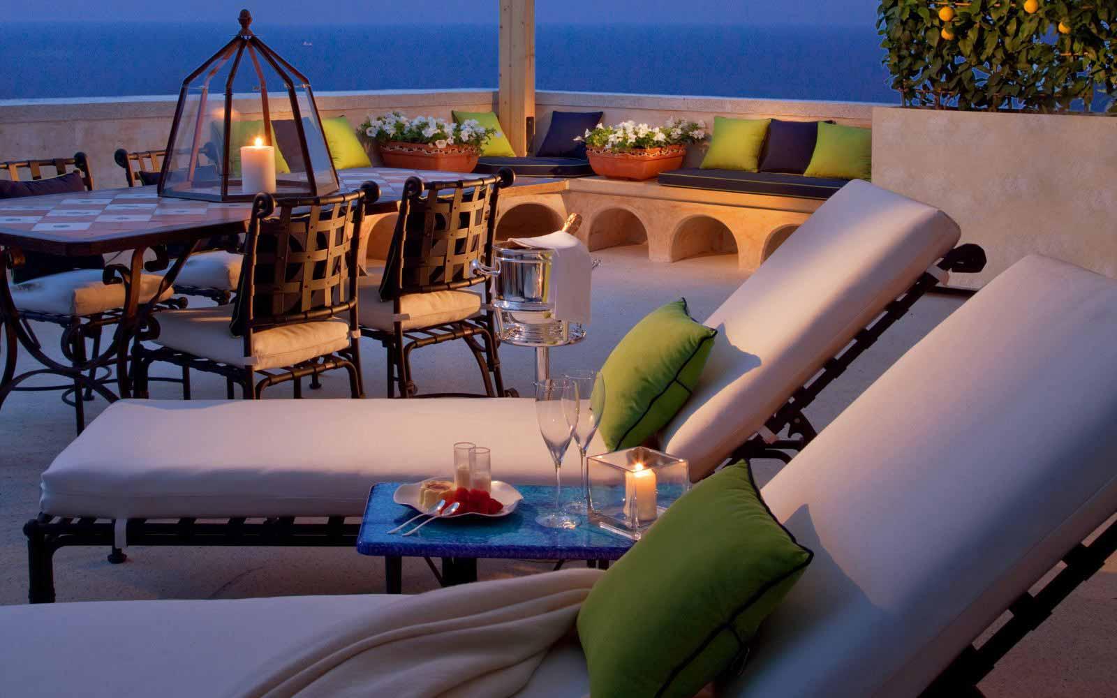 Premium suite terrace at Monastero Santa Rosa