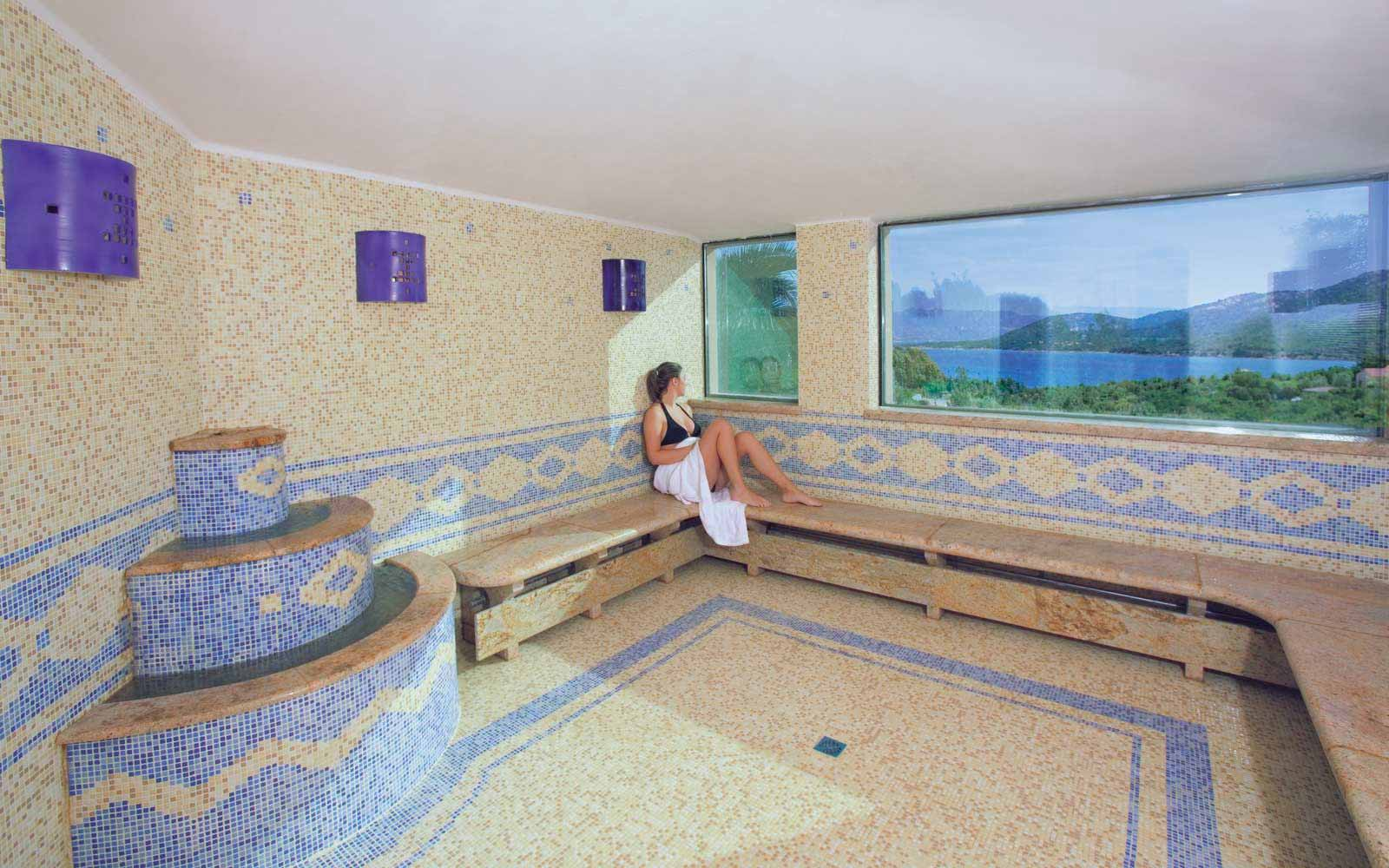 Turkish bath at  Park Hotel & Spa Cala di Lepre