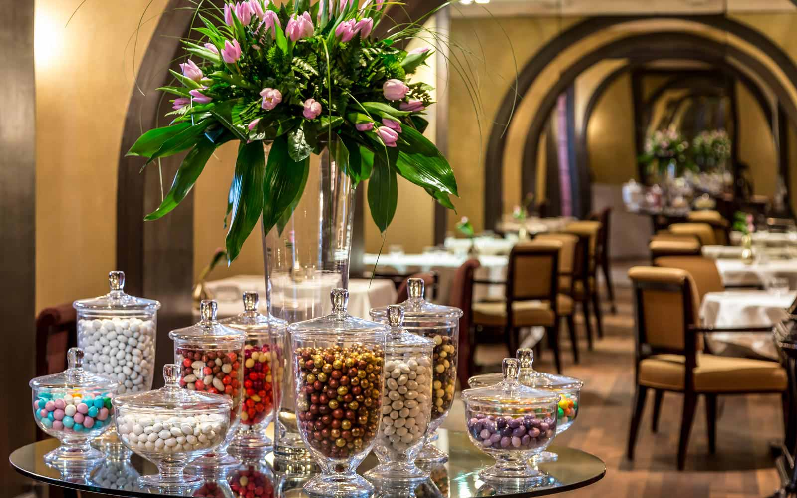 Interiors at the Grand Hotel Via Veneto