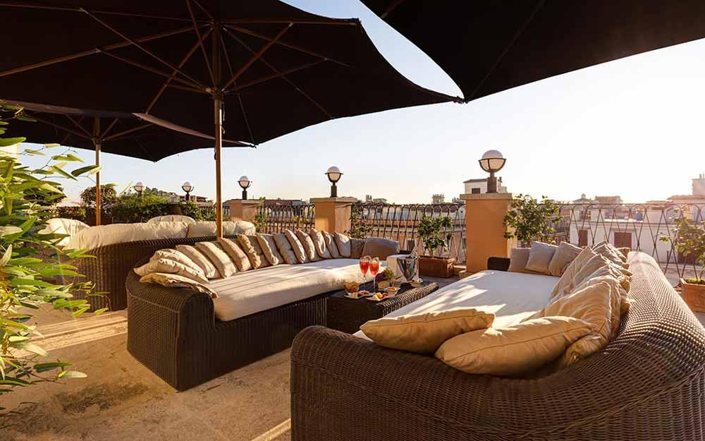 Penthouse at the Grand Hotel Via Veneto