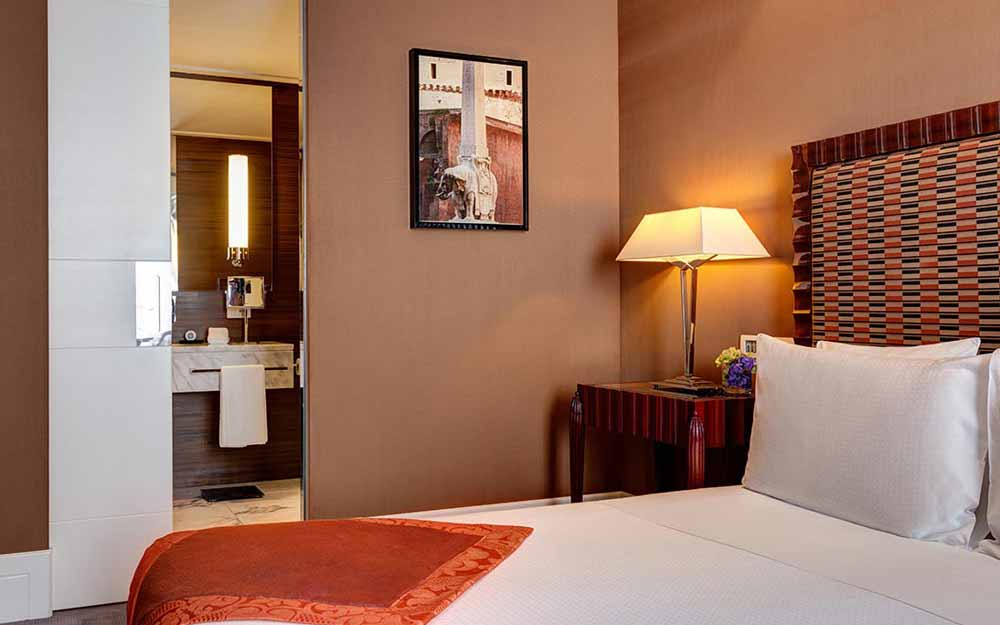 Deluxe room at the Grand Hotel Via Veneto