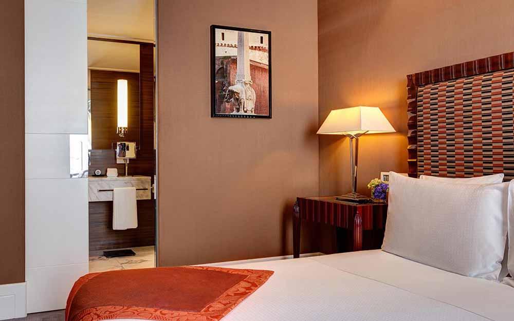 Deluxe room at the Grand Hotel Via Veneto