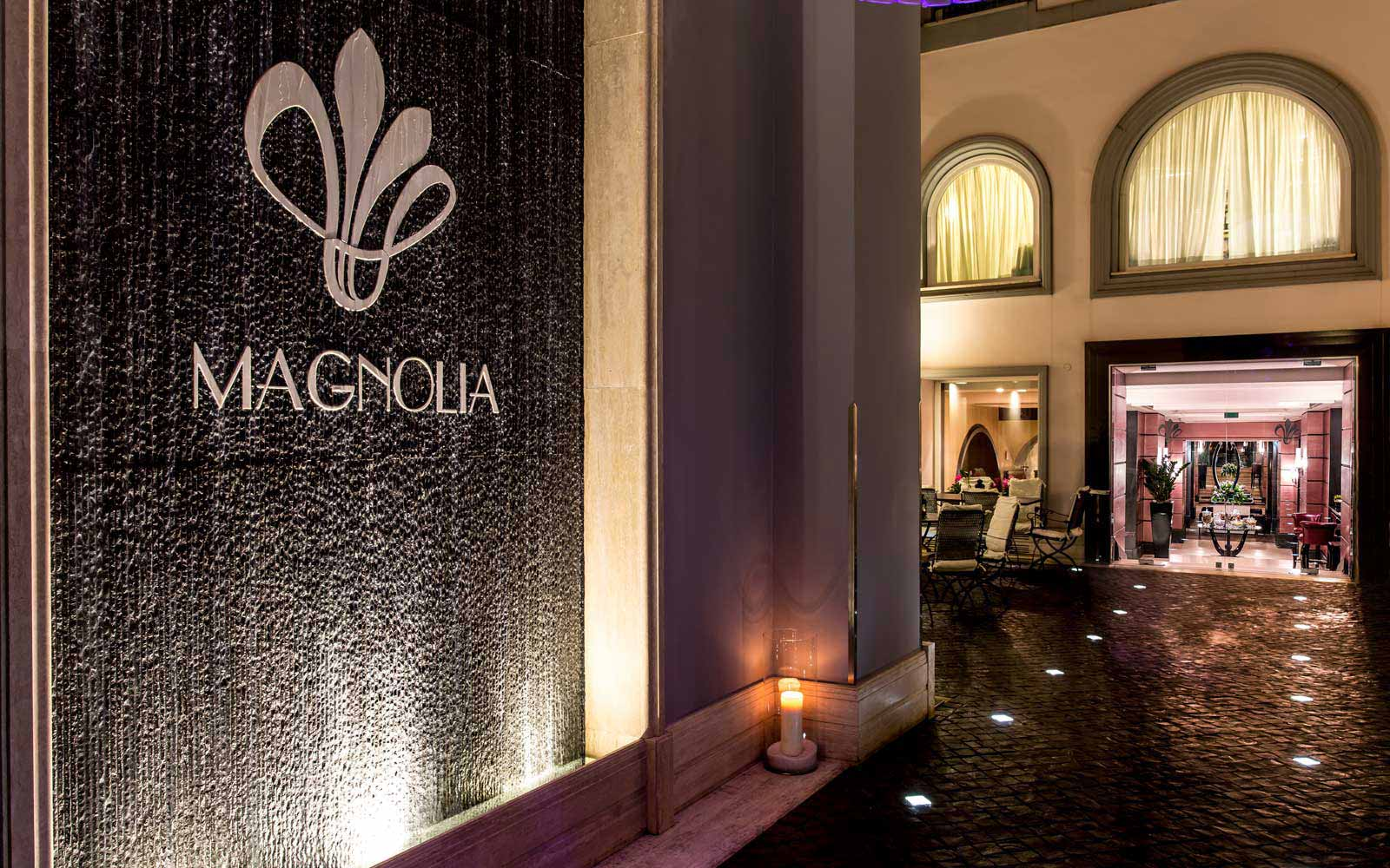 Magnolia entrance at the Grand Hotel Via Veneto