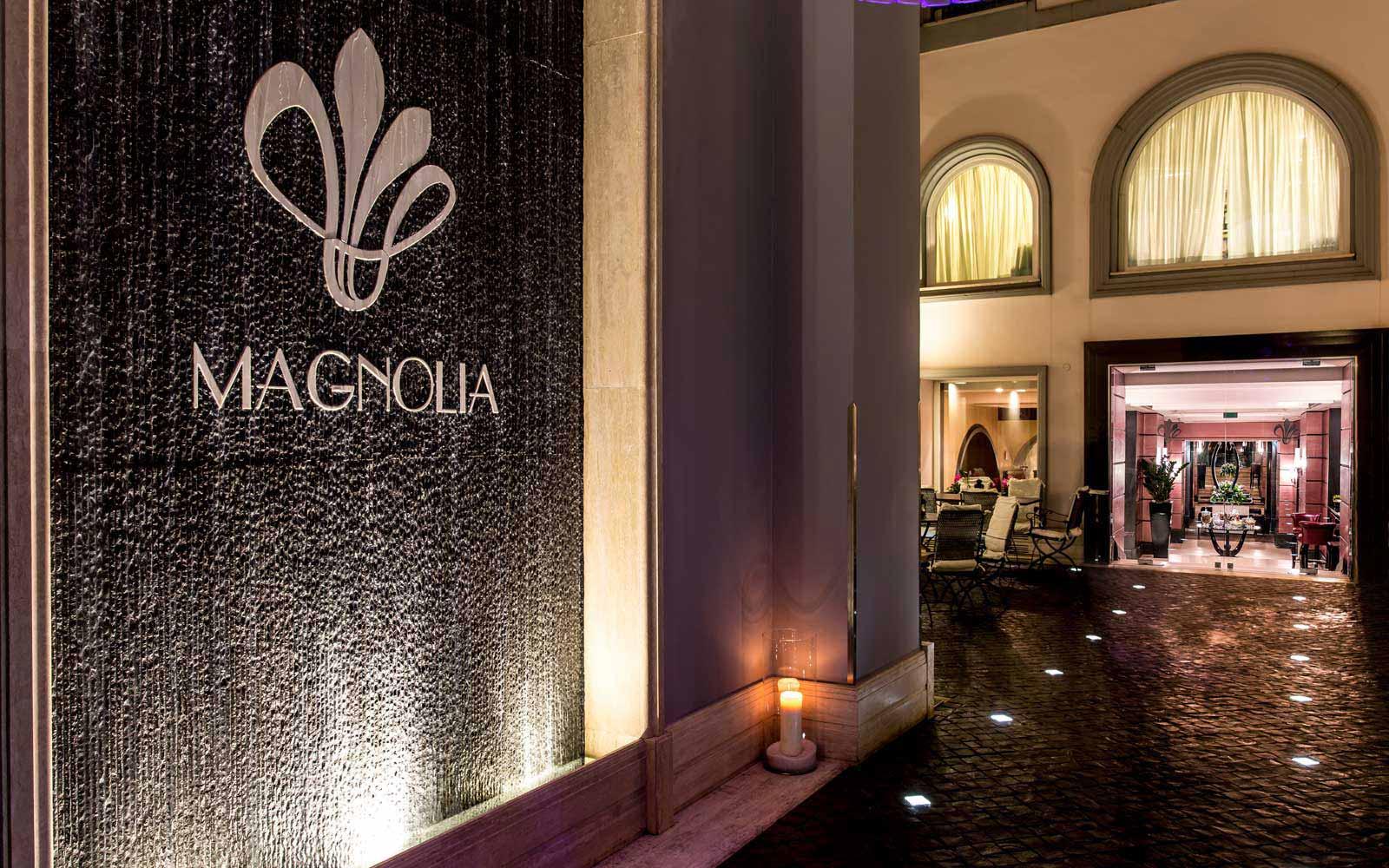 Magnolia entrance at the Grand Hotel Via Veneto