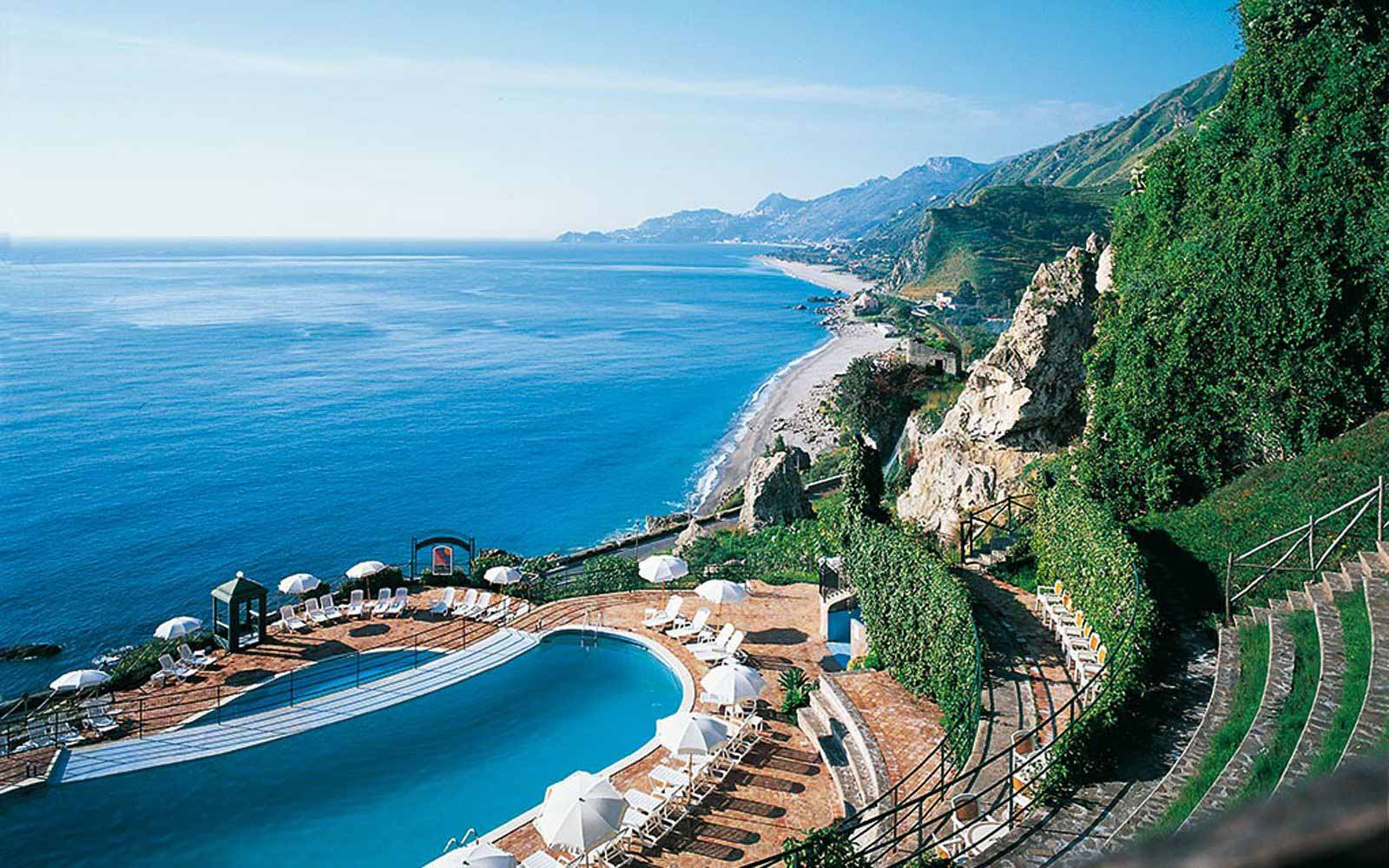 Swimming pool at Hotel Baia Taormina