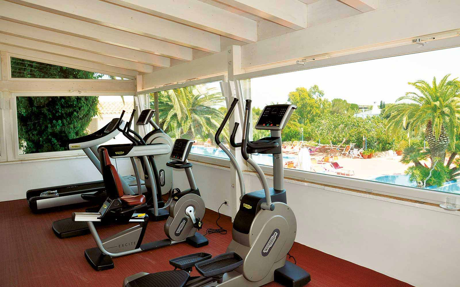 Fitness room at the Ostuni Rosa Marina Resort