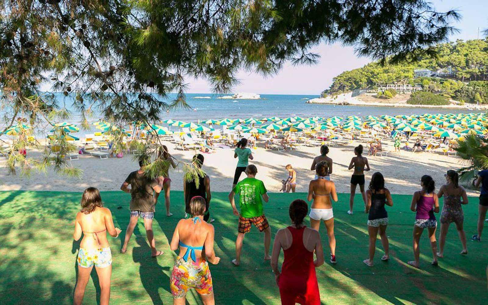 Fitness activities at the Gattarella Resort