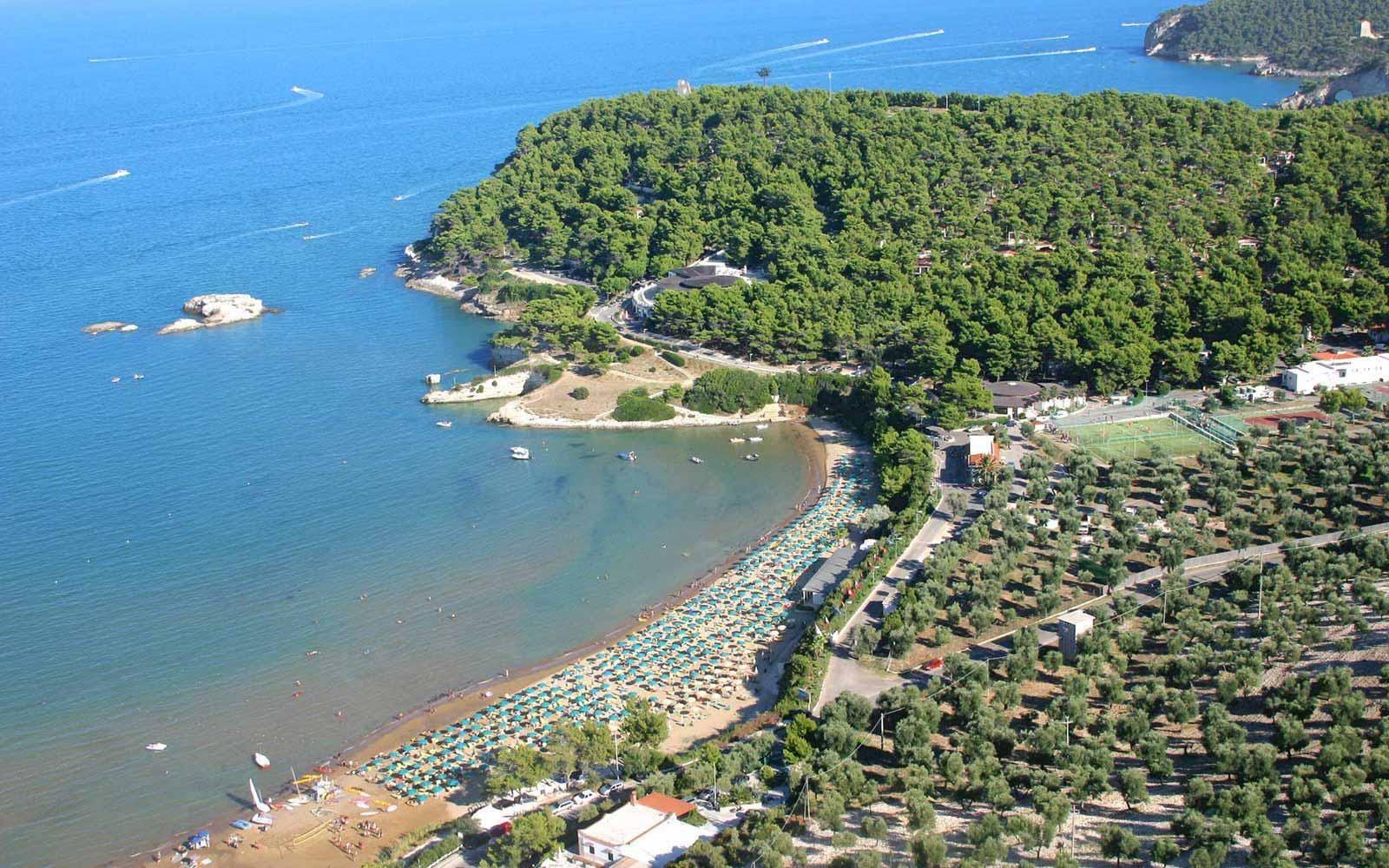 Aereal view of Gattarella Resort