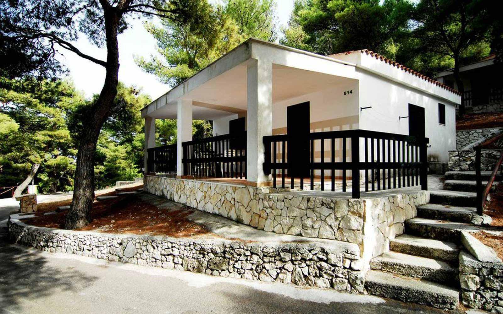 Exterior of the rooms at the Gattarella Resort