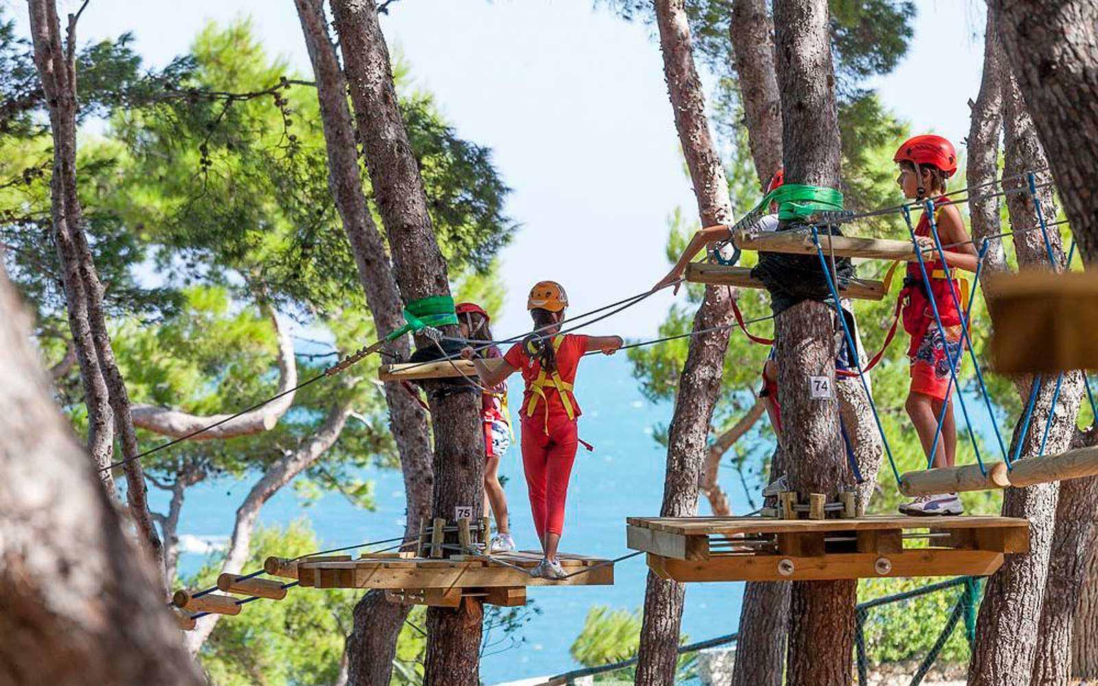 Tree top adventure park at the Gattarella Resort
