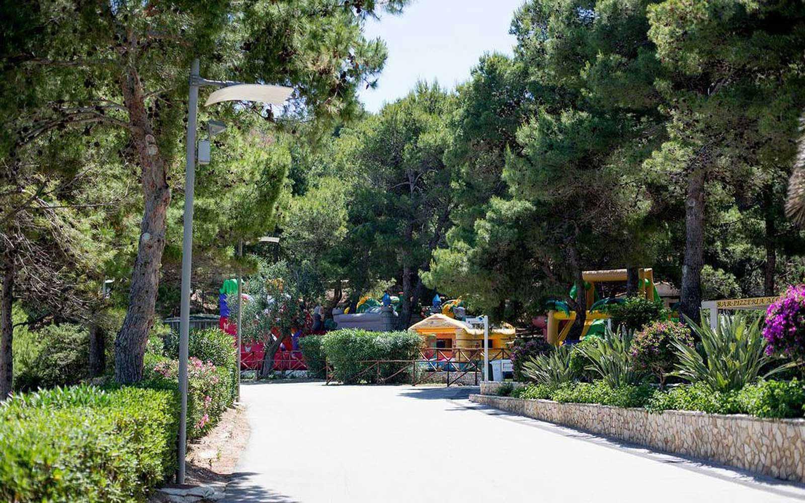The playground at the Gattarella Resort