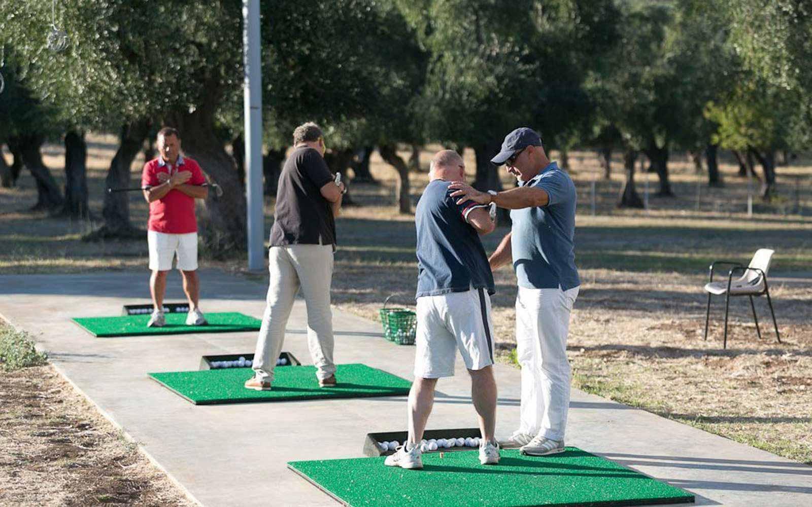 Golf lessons at the Gattarella Resort