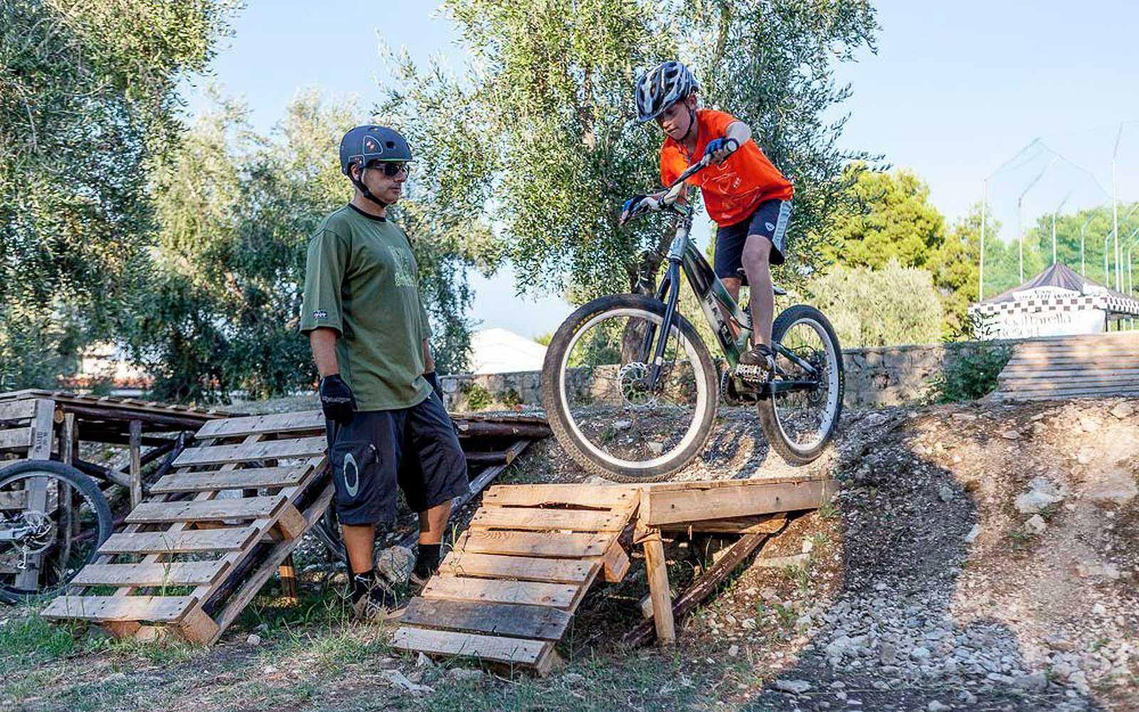Mountain bikes at the Gattarella Resort