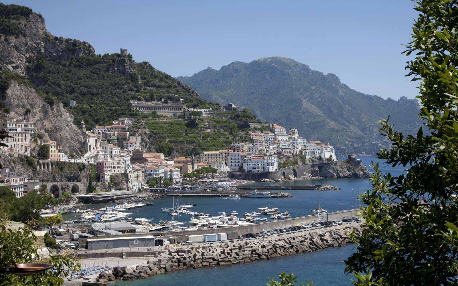 View over Amalfi from Hotel Miramalfi