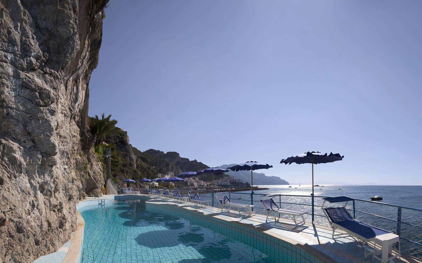 Views from the pool at Hotel Miramalfi
