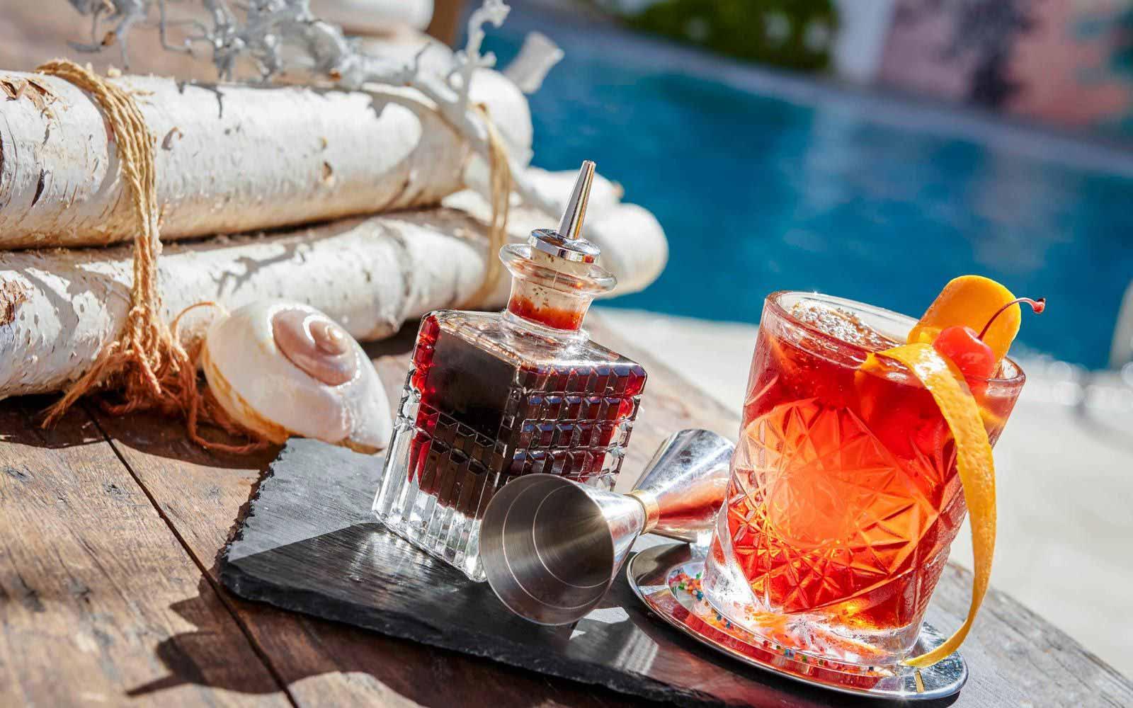 Poolside drinks at Grand Hotel Poltu Quatu