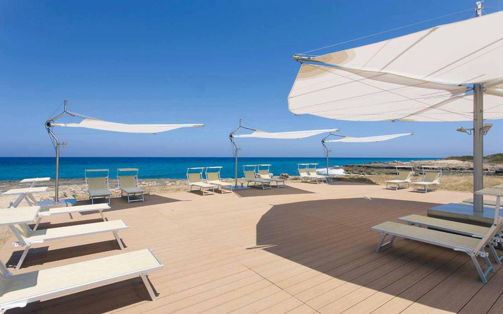 The beach by Grand Hotel Masseria Santa Lucia