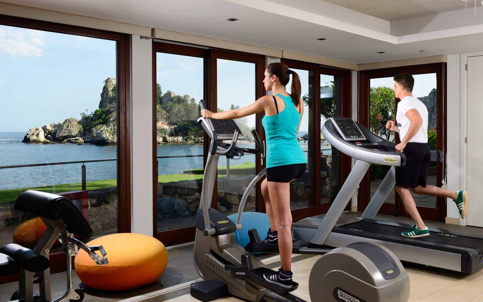 Fitness room at La Plage Resort