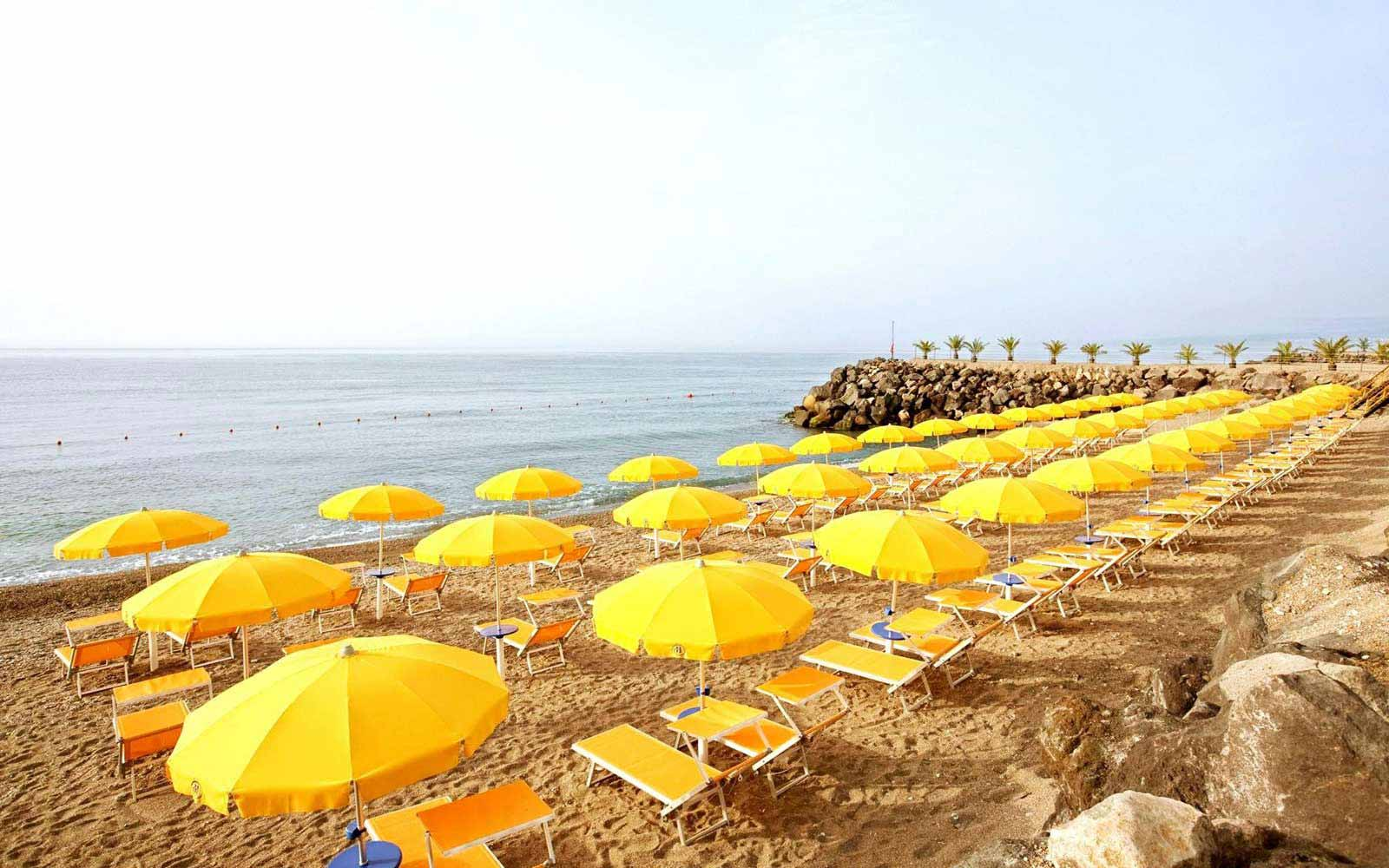 The beach at Hilton Giardini Naxos