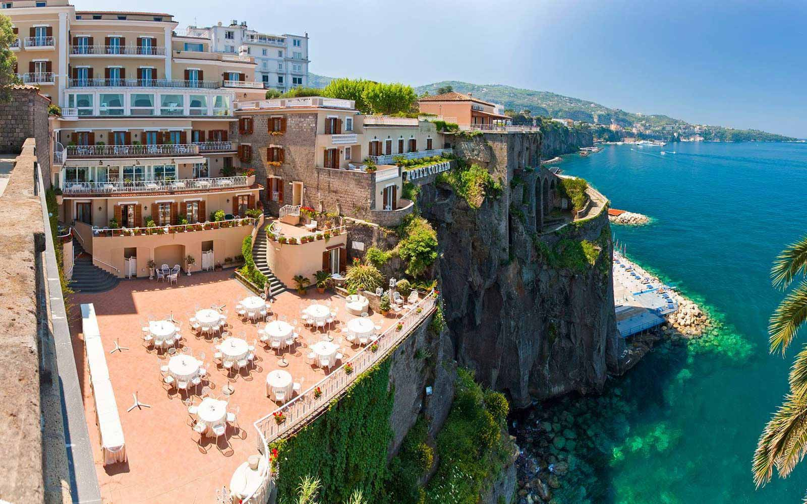 Panoramic view over Hotel Corallo