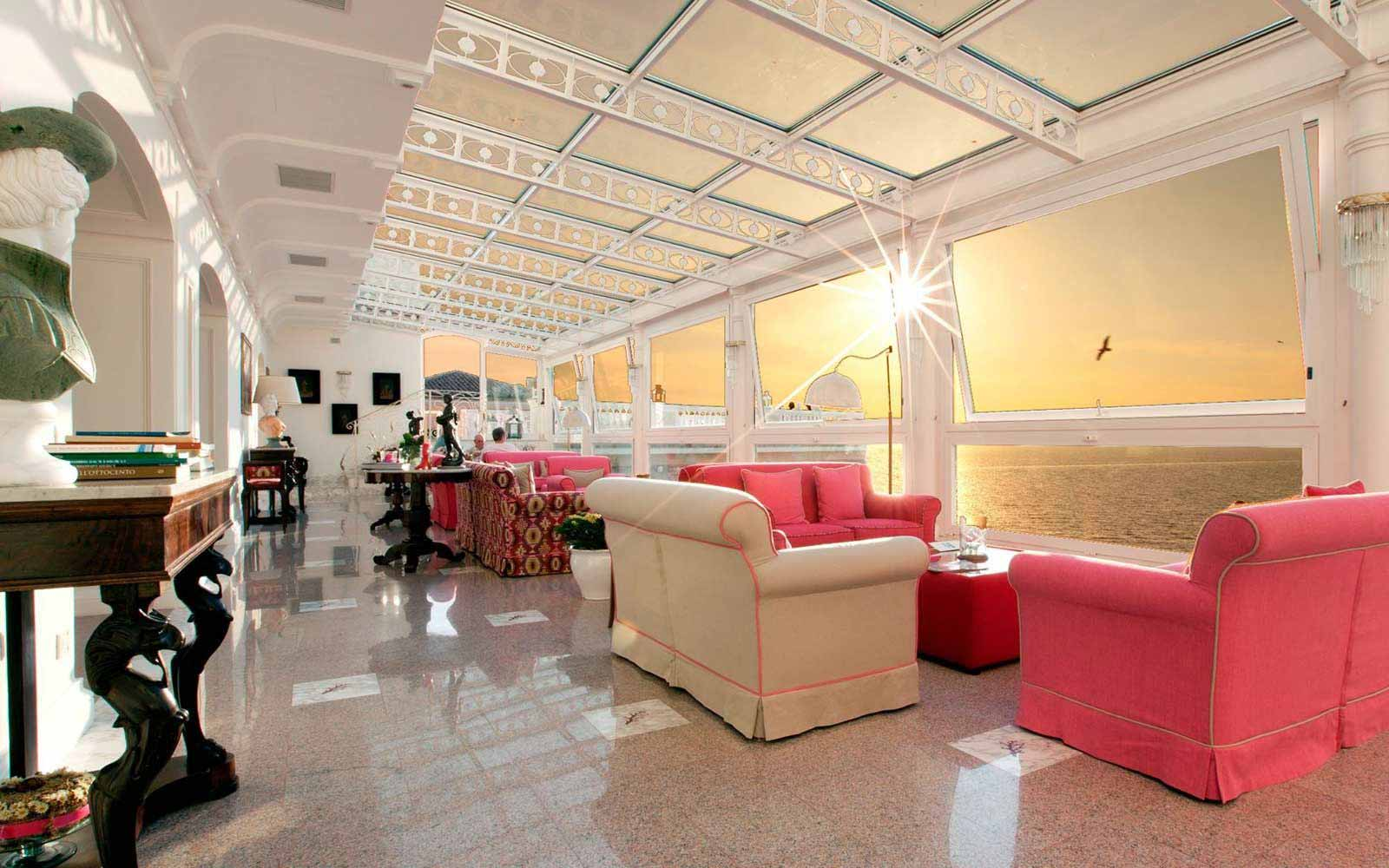 Lobby at Hotel Corallo