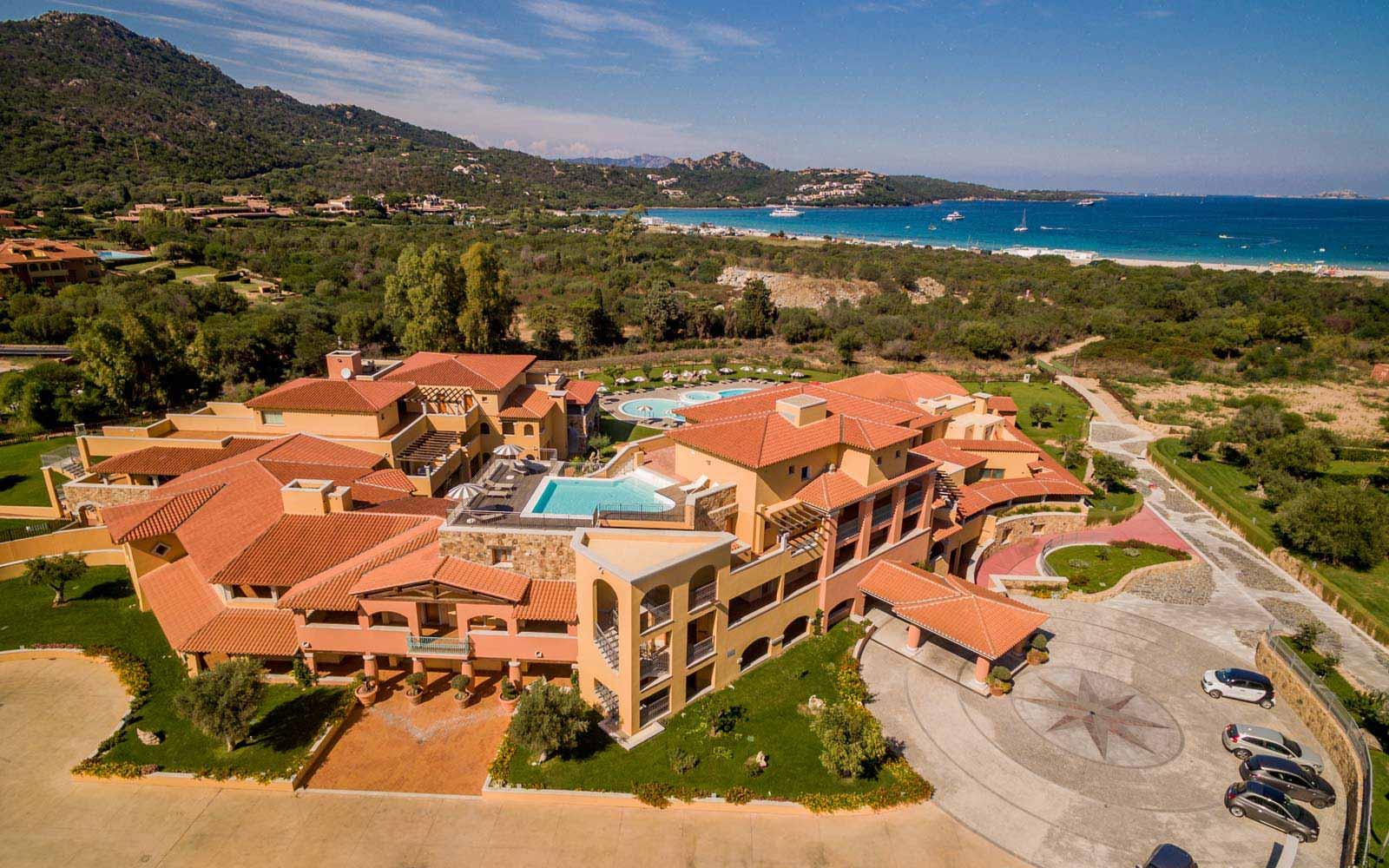 Aerial view of Hotel Marana
