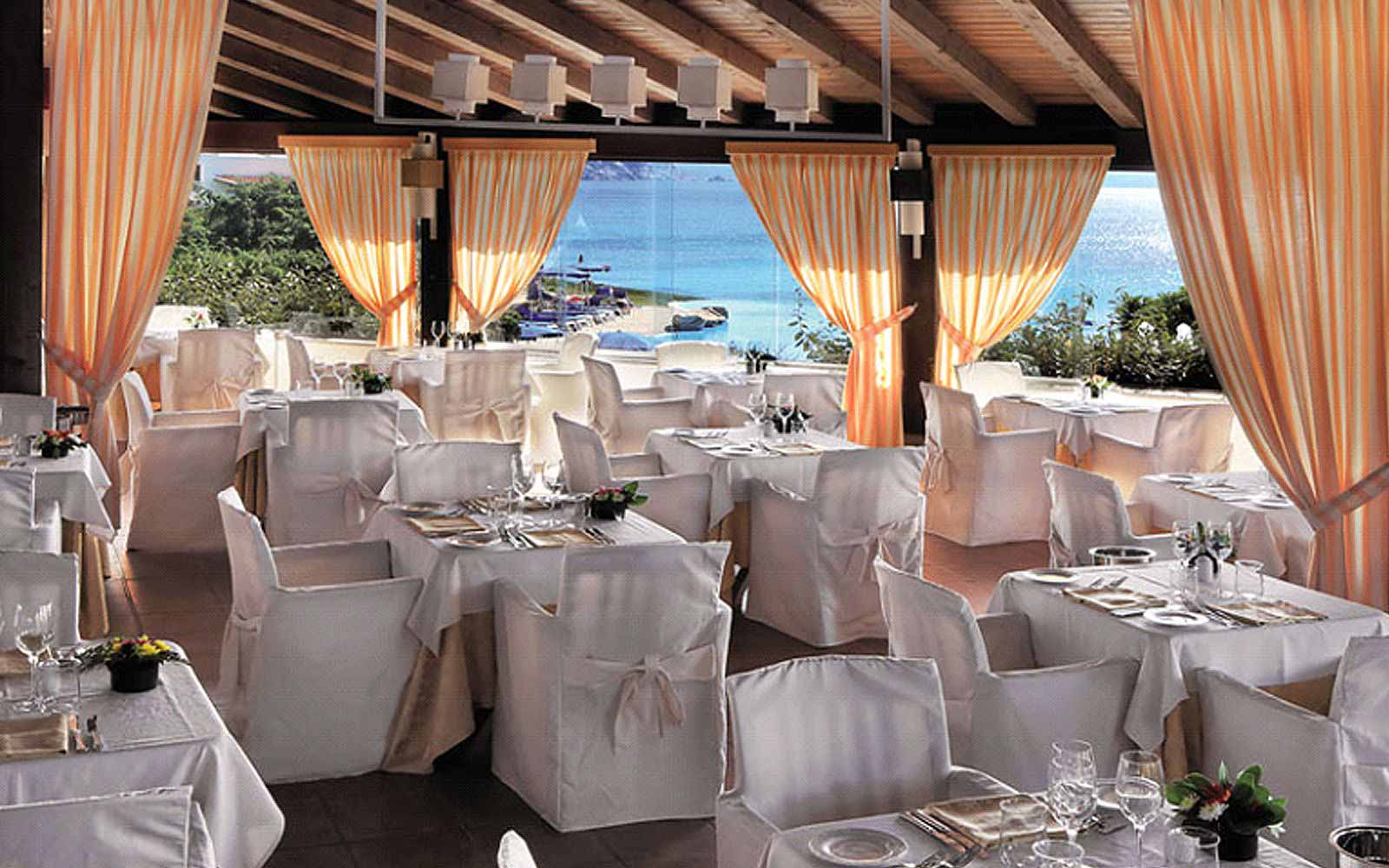 Restaurant at the Colonna Grand Hotel Capo Testa