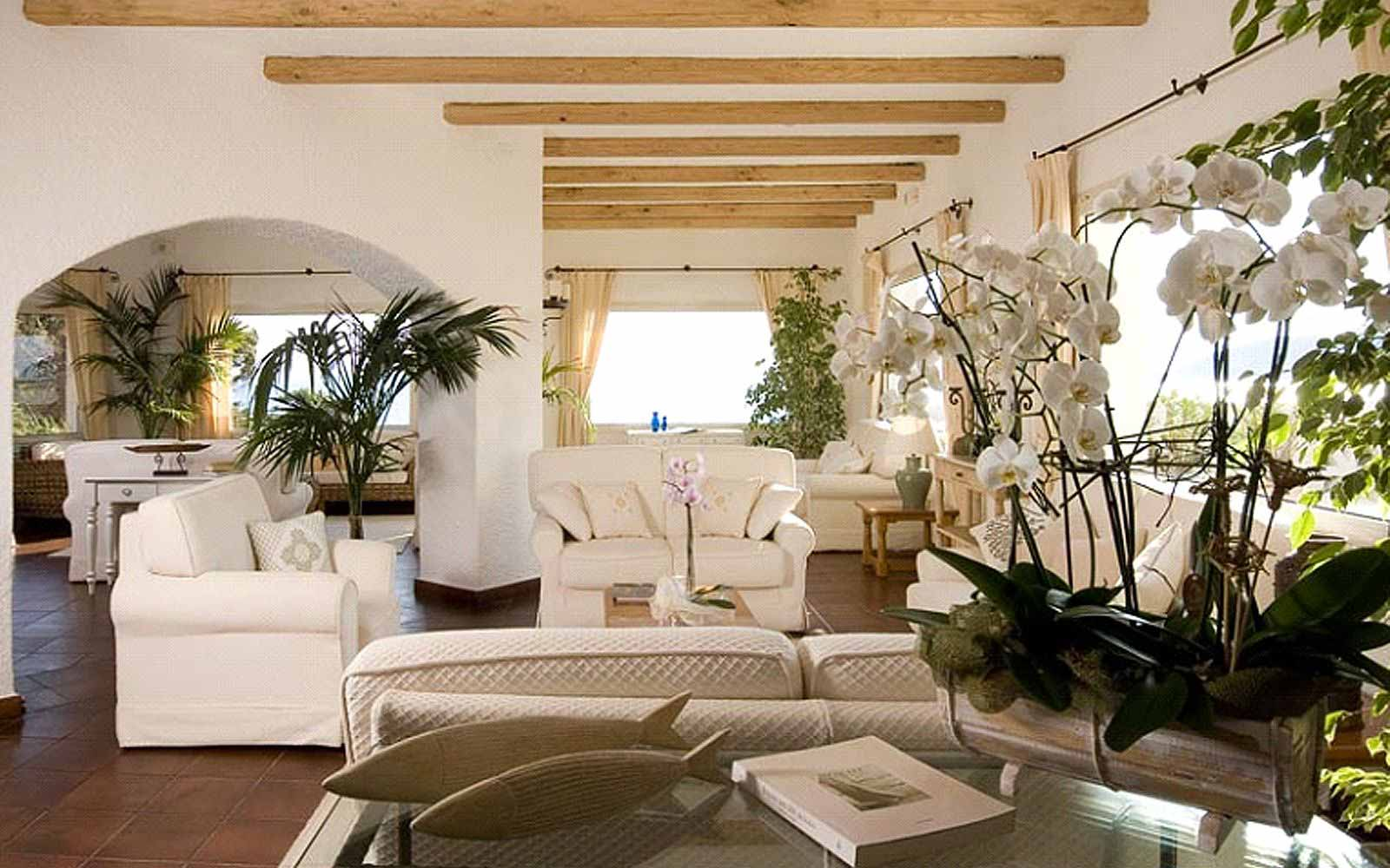 Lounge area at the Colonna Grand Hotel Capo Testa