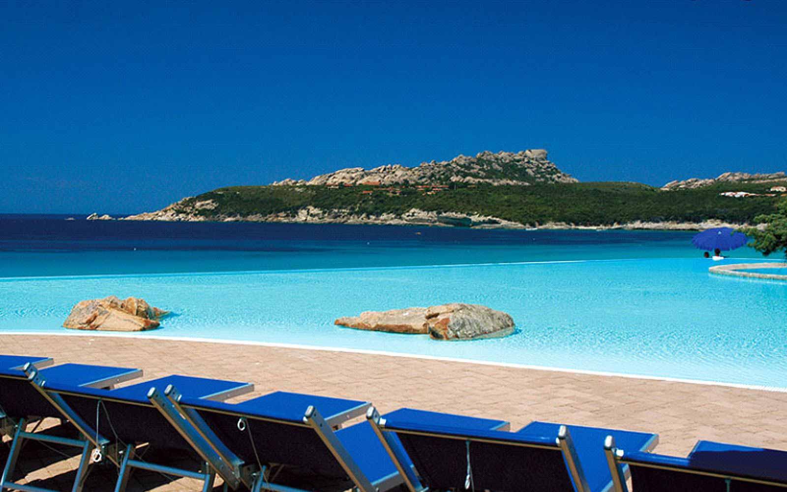 Pool at the Colonna Grand Hotel Capo Testa