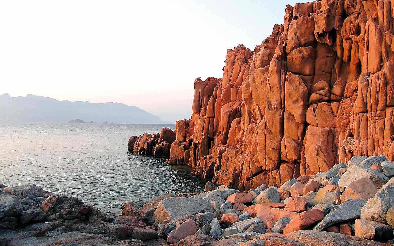 Red rocks at Arbatax park Resort
