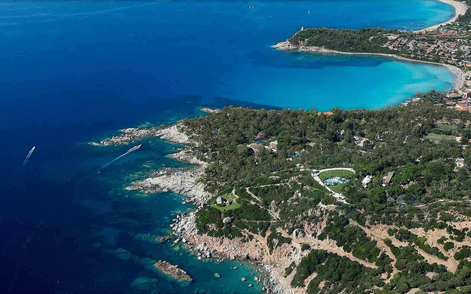 Aerial view of Arbatax Park Resort