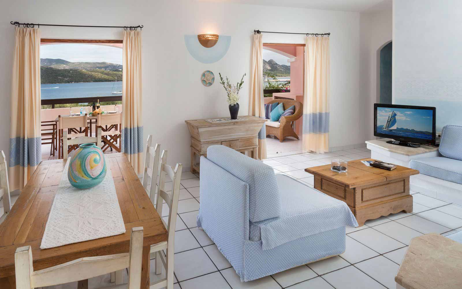 Living room at Resort Cala di Falco - Villas