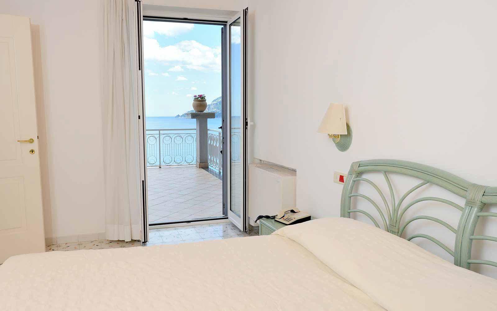 Panoramic balcony sea view room at Hotel Club Due Torri